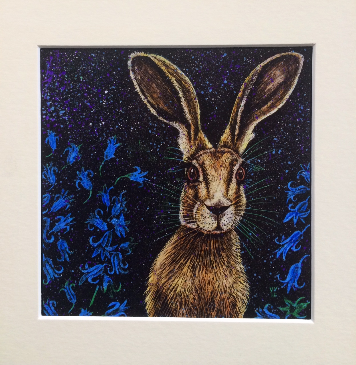 'Bluebell' mounted print