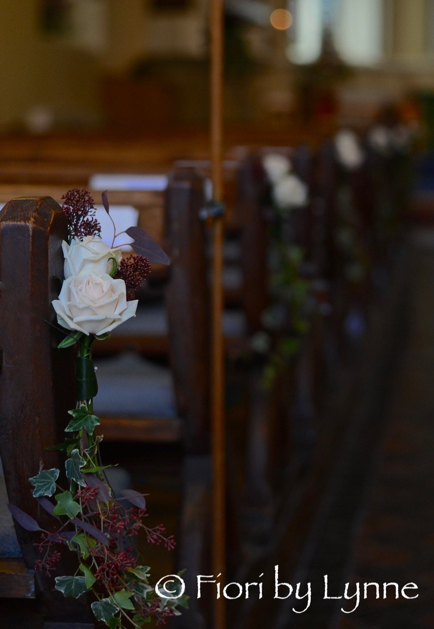 church-pew ends, rose,berry, ivy-trails,autumn-wedding.jpg