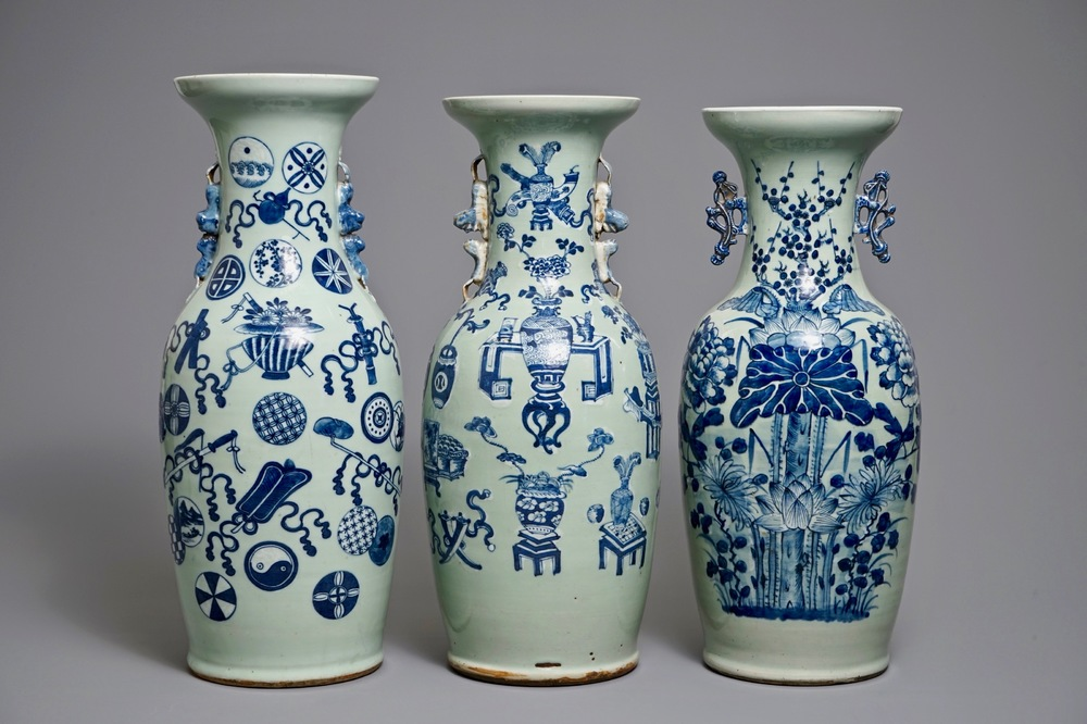 three-chinese-blue-and-white-on-celadon-ground-vases-1920th-c-1jpg