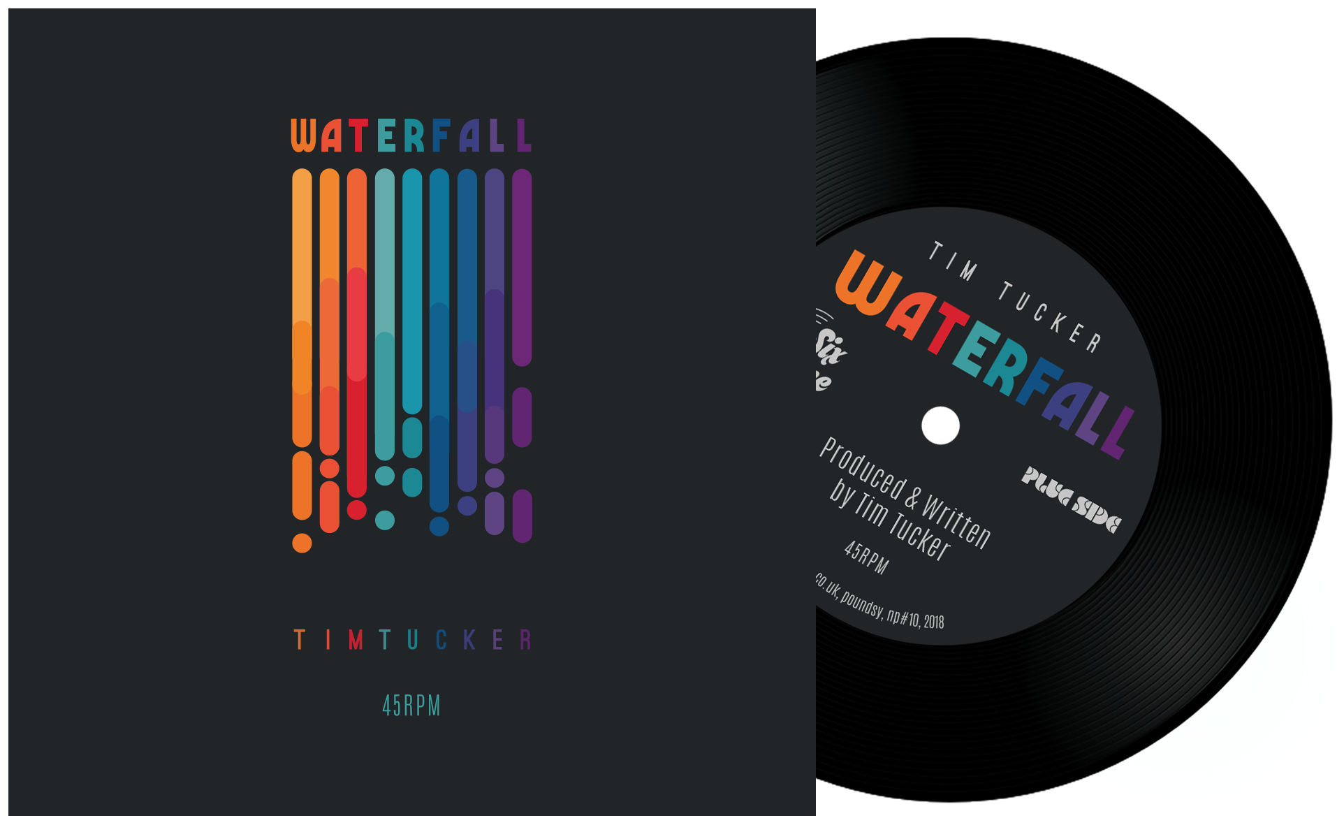 """Waterfall"" Limited Edition 45rpm vinyl"