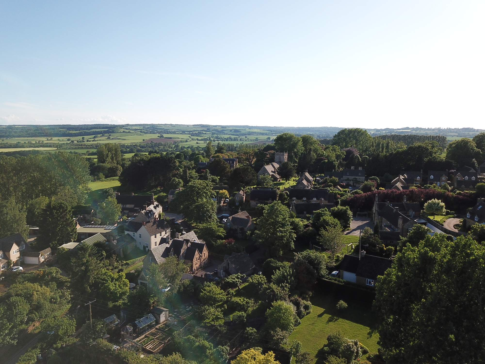 Aerial Ebrington  Chipping Campden