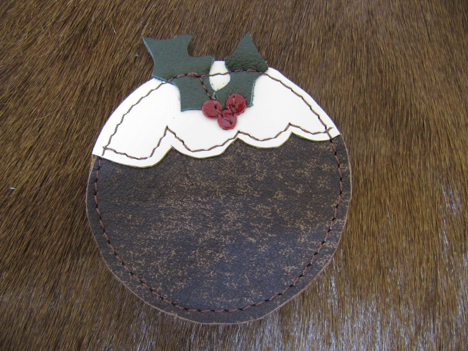 Christmas pudding badge