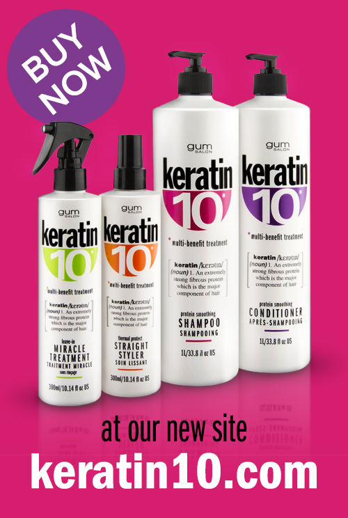 keratin 10 hair care range