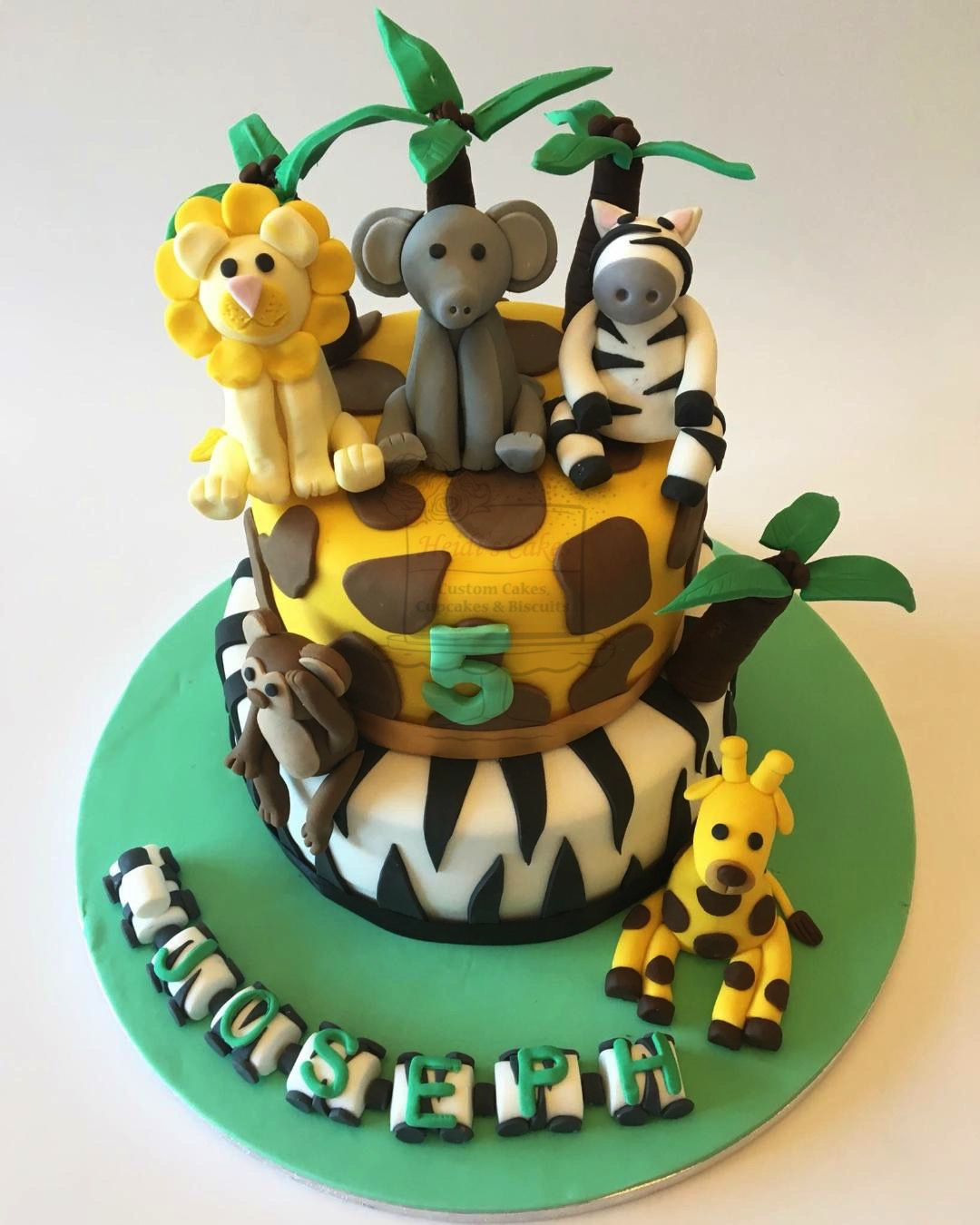 Jungle Animals 2 Tier