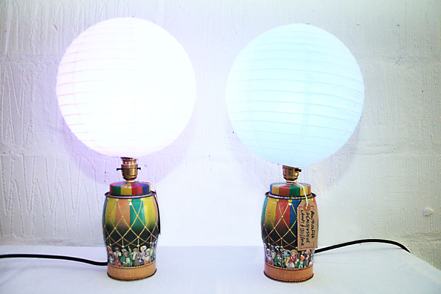 Montgolfier Aerostatique Pair of Lamps
