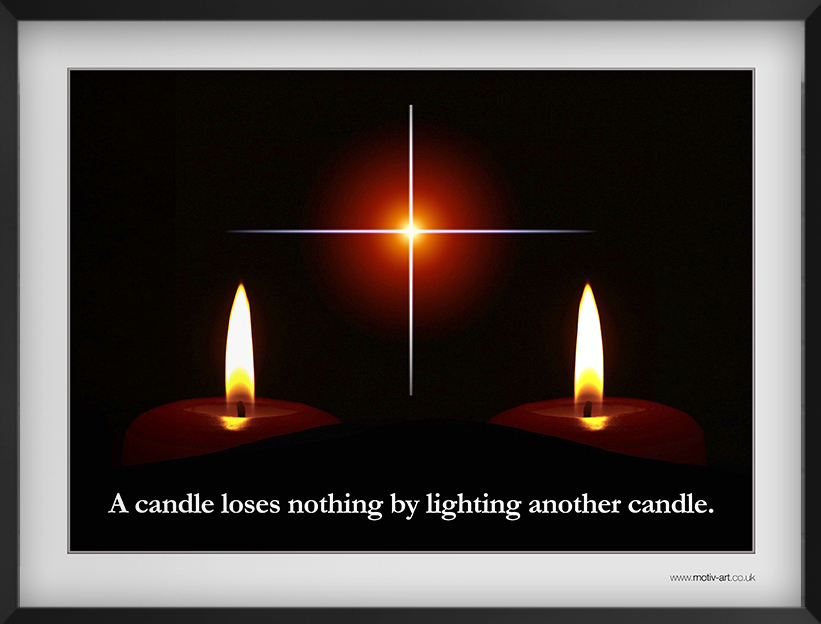 A candle loses...