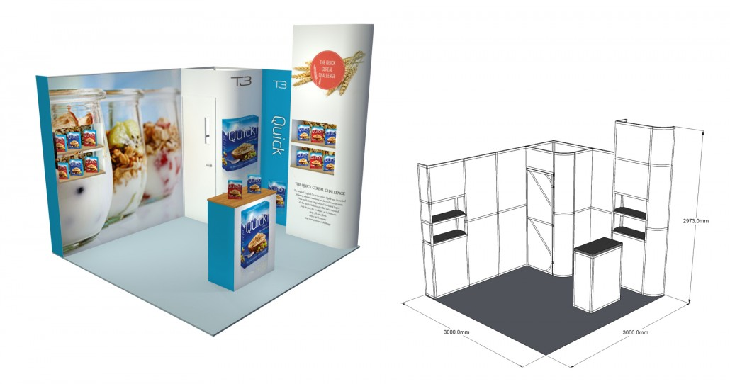 Small Exhibition Stand Vector : Vector display