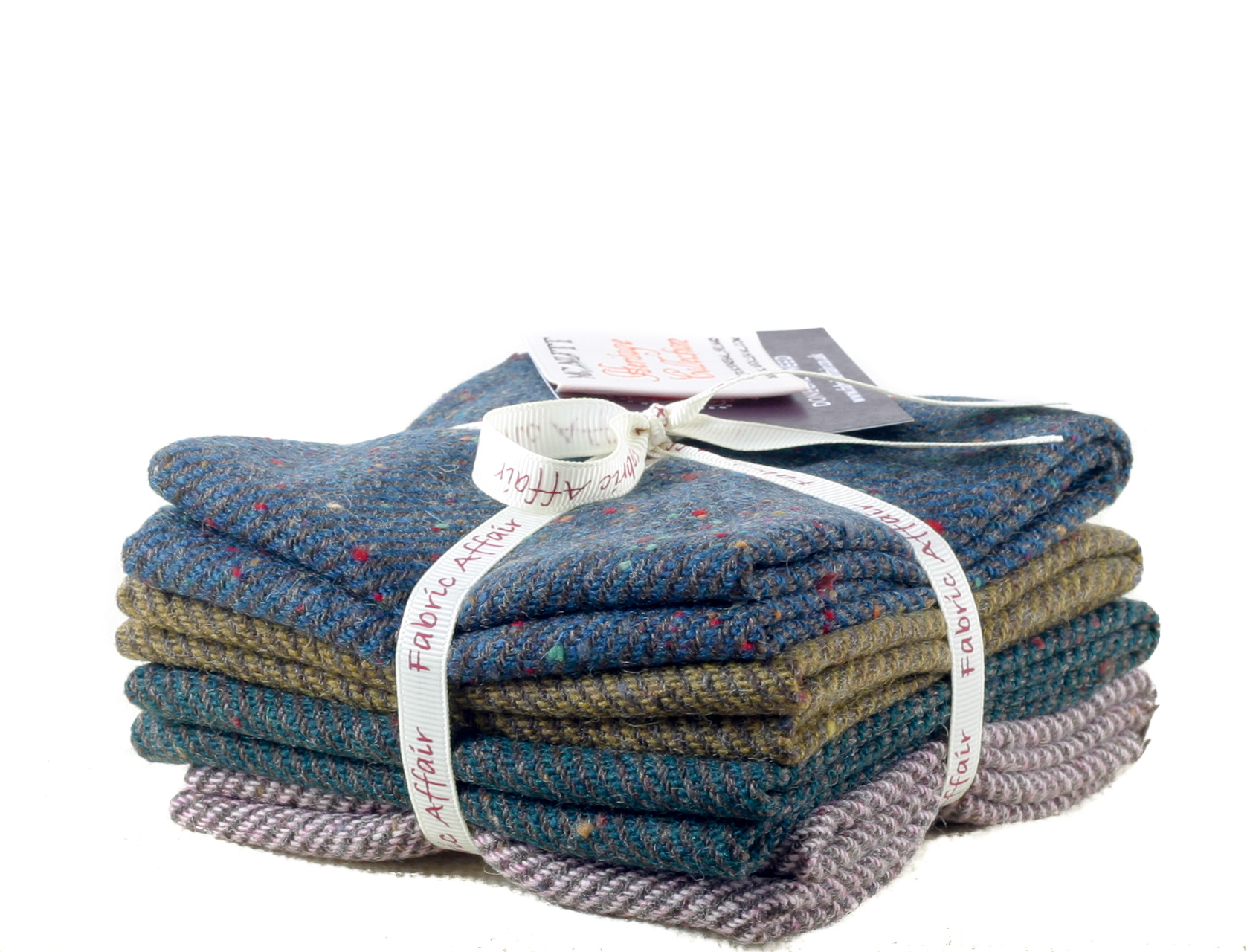 Donegal Tweed by Fabric Affair: Heritage Collection, Twill Bundle of 8th's.