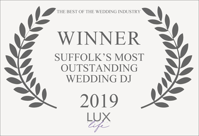 Suffolk Wedding DJ Award Lux Life