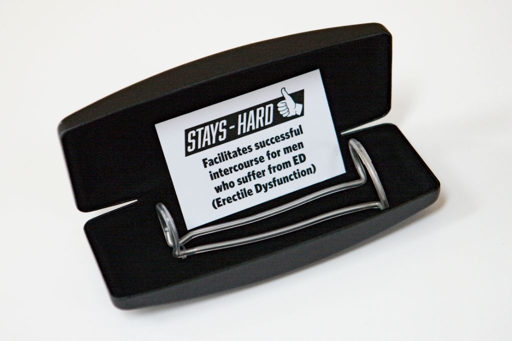 Stays-Hard External Penile Support Device