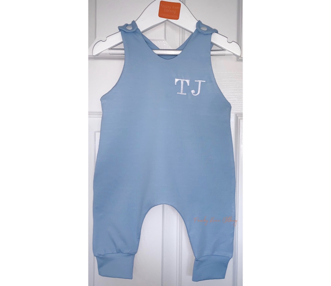 Blue Personalised Romper