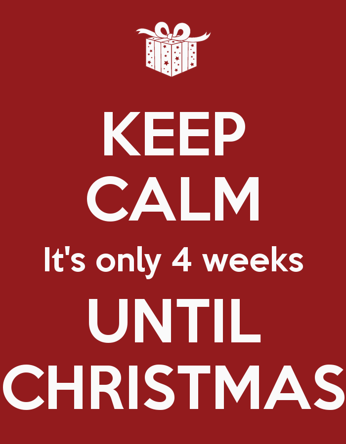only 4 weeks until christmas