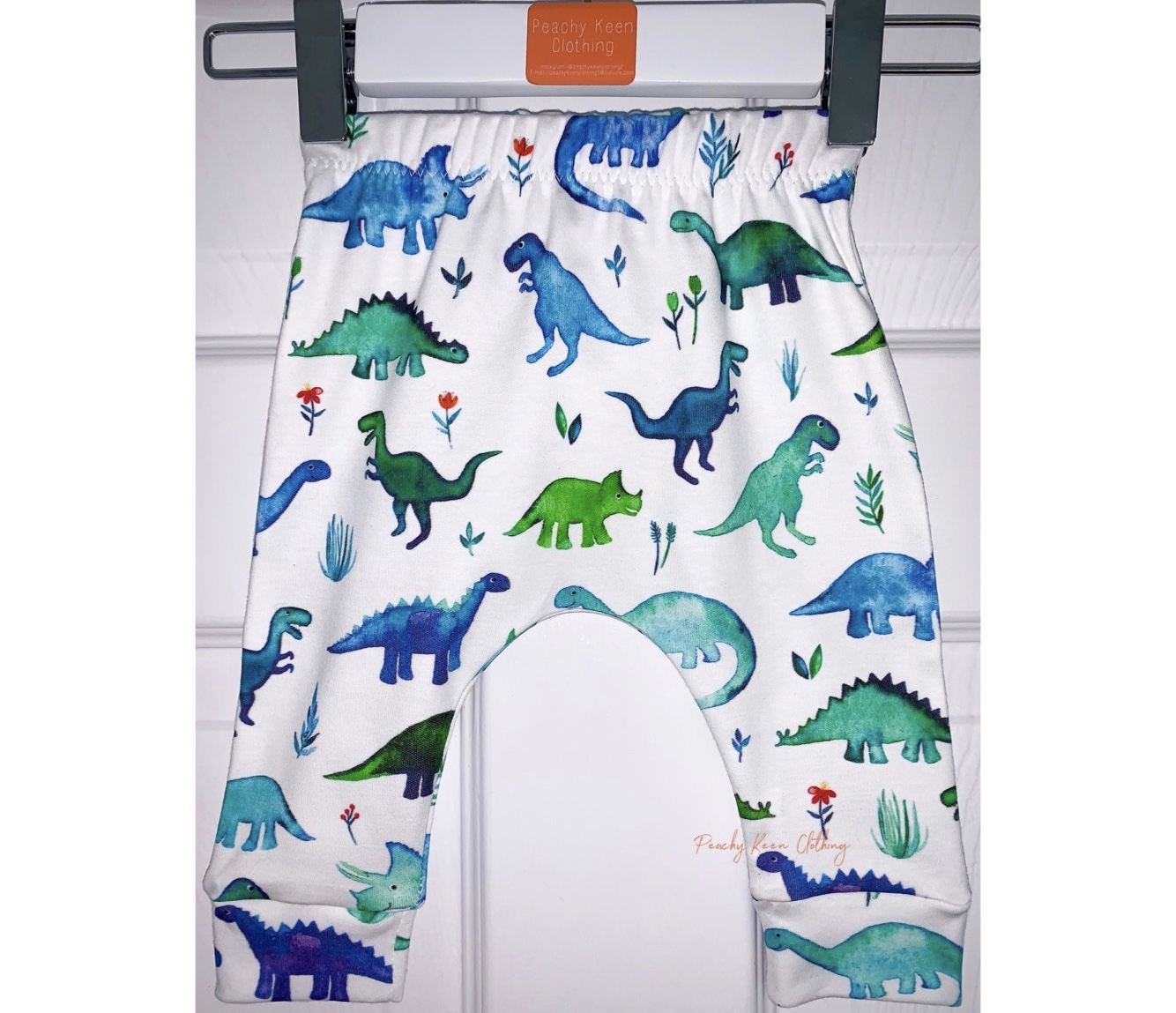 Blue Dino Leggings/Shorts