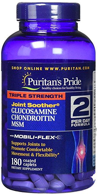 Sallutar Suplementos Glucosamine, Chodroitin, MSM 180 caps