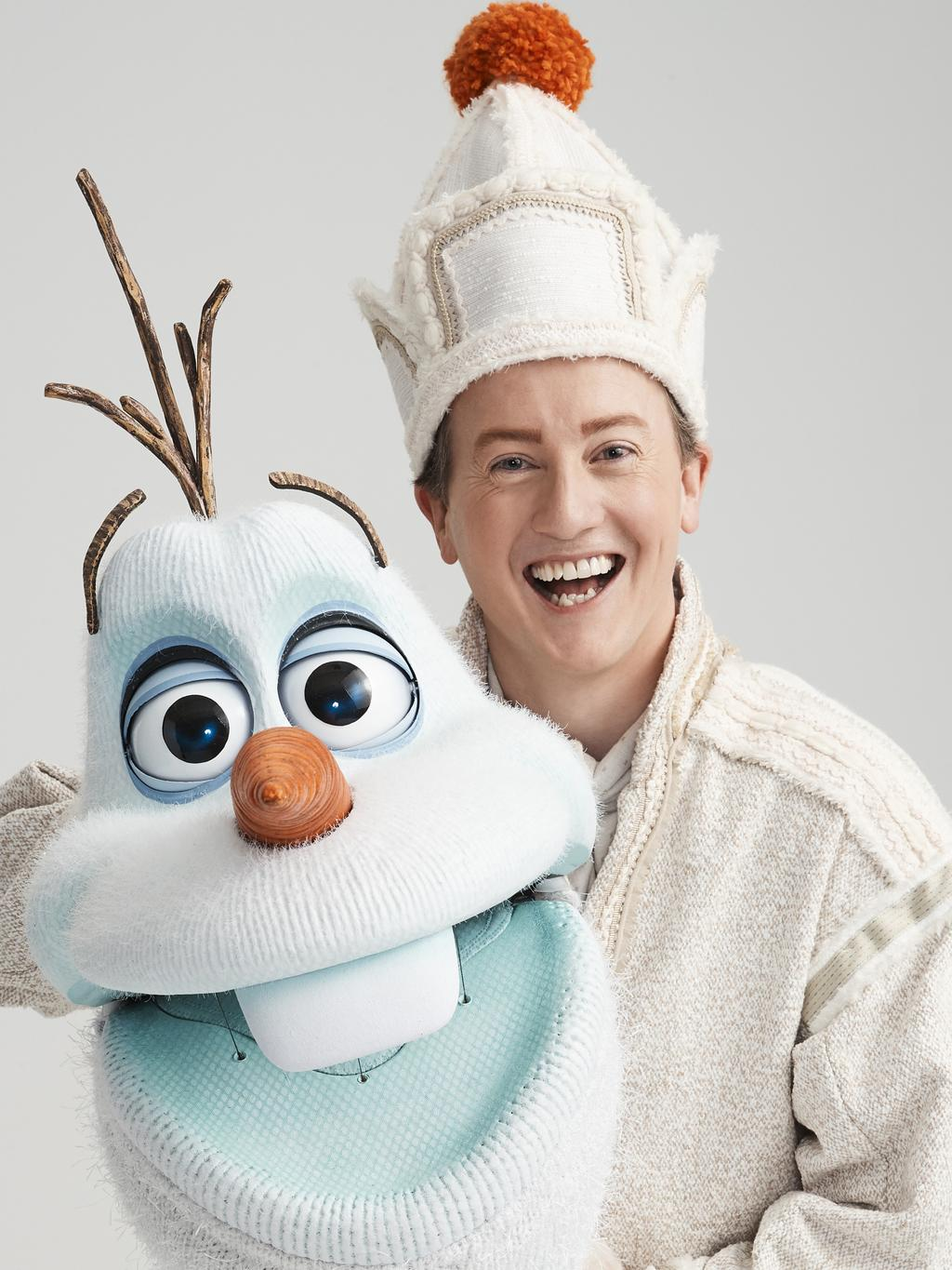Matt Lee as Olaf in Frozen The Musical