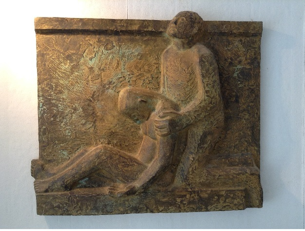 Samaritaan h 58 cm  brons 1983jpg