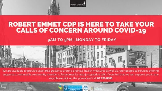 Robert Emmet CDP is here to take your calls of concern around COVID-19jpg