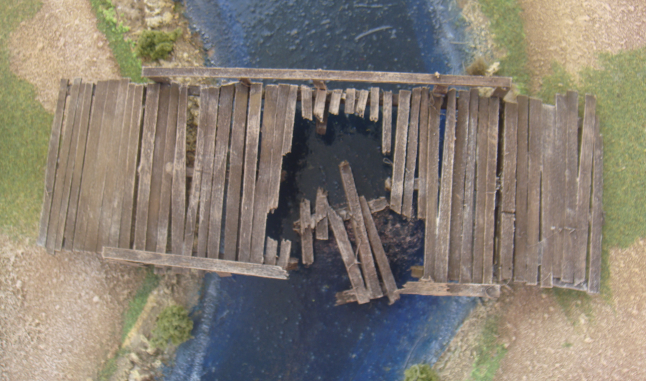 Destroyed Wooden Bridge