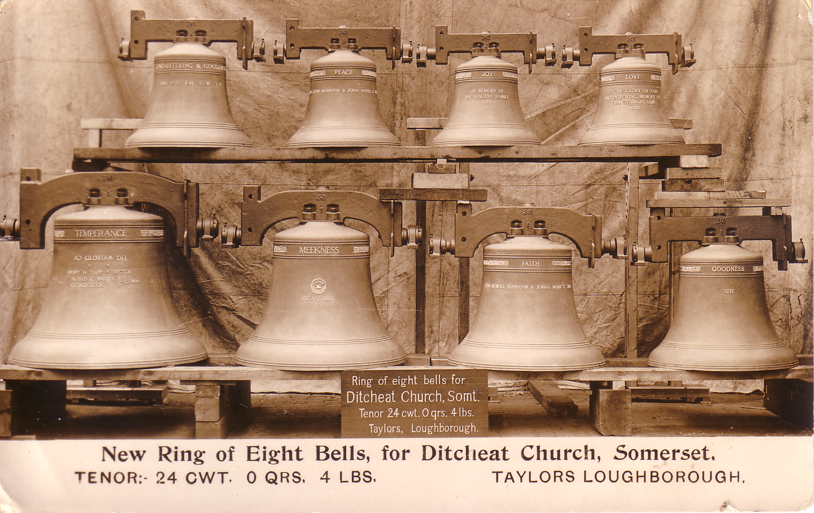 Ditcheat Church Bells are 100 years old on 14th December 1920