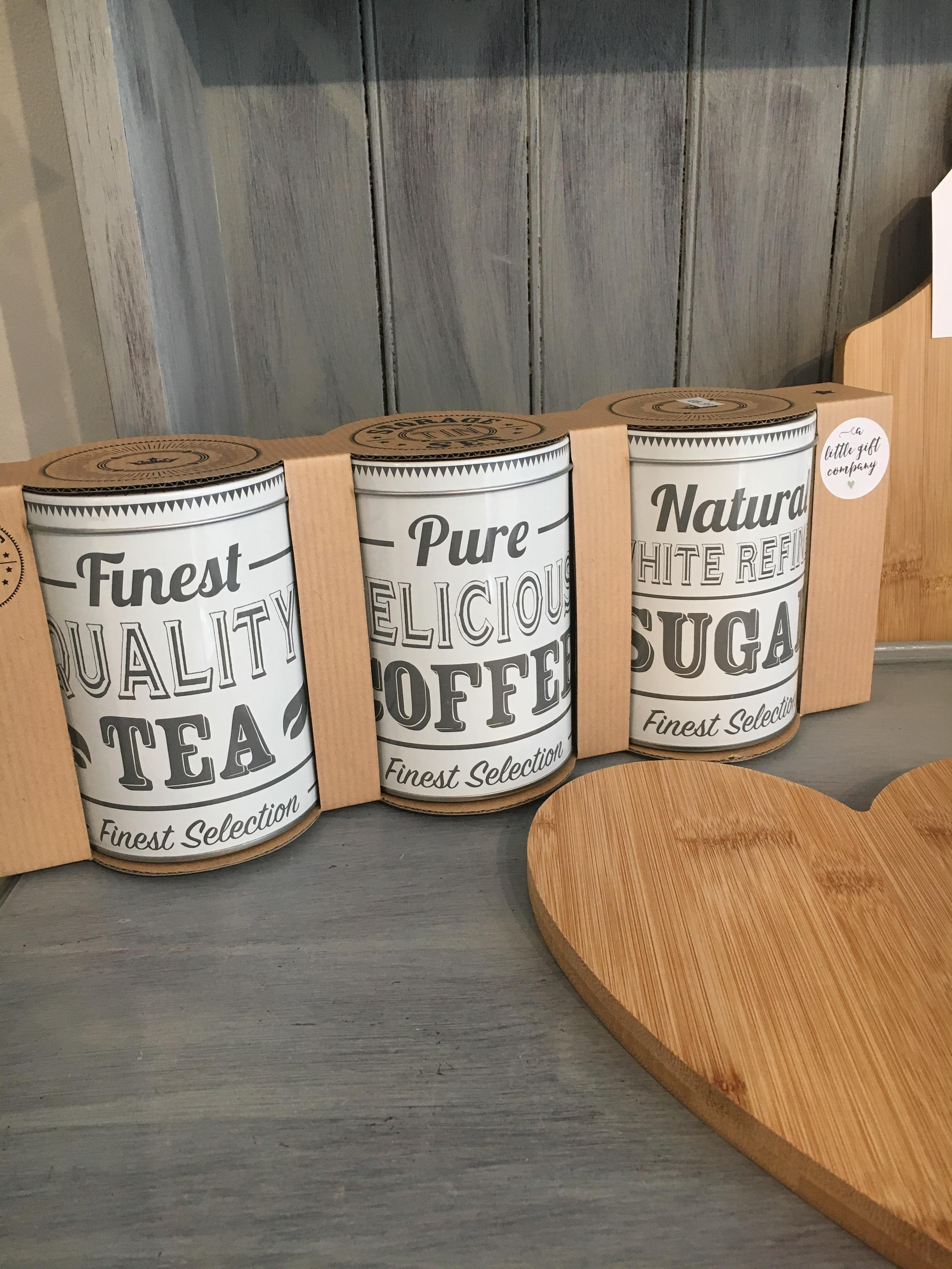 Tea Coffee Sugar Tins