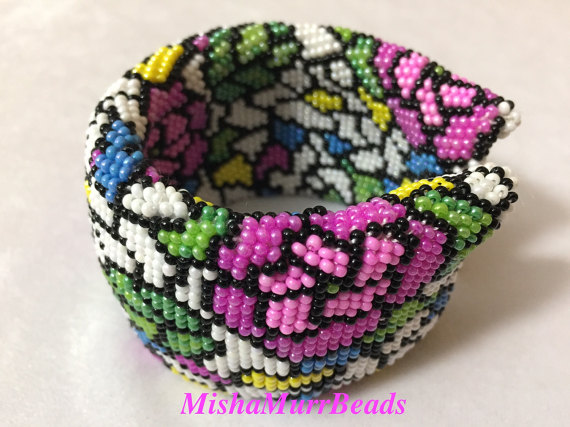 "Bracelet ""Stained Glass Rose"""