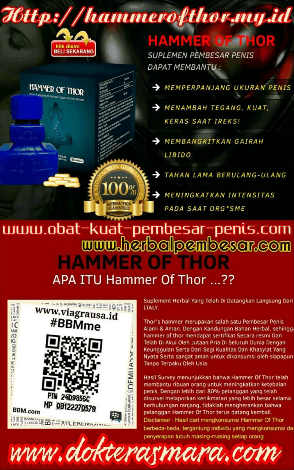 hammer of thor obat pembesar penis asli italia rekomendasi
