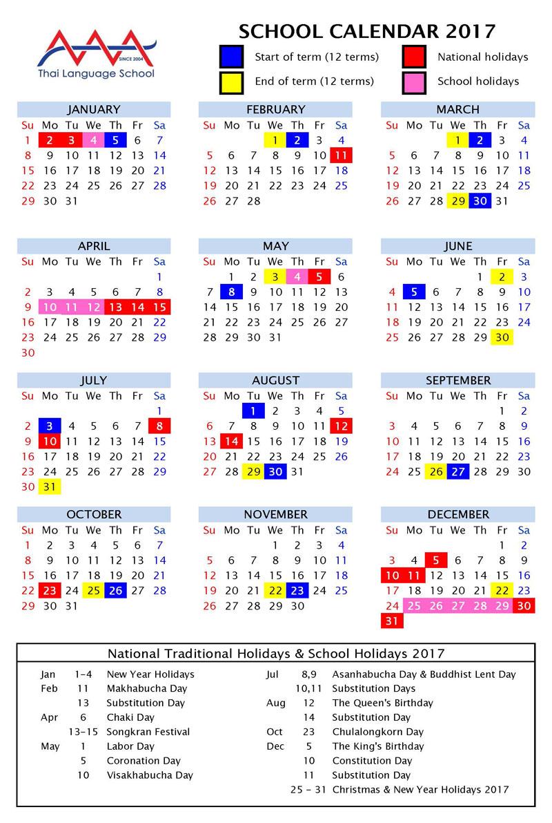 Japanese School Year Calendar : School calendar starting date ǀ aaa thai language