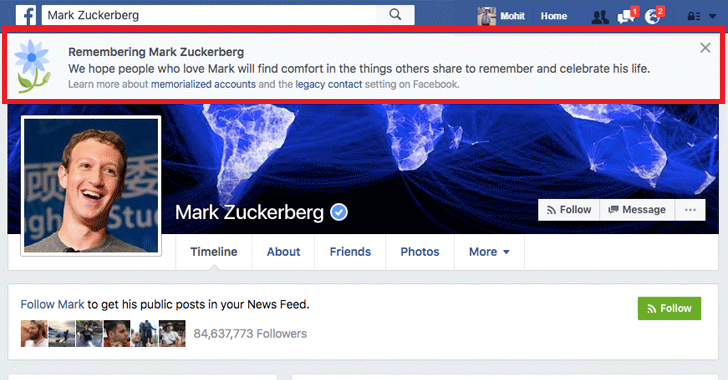 Facebook Bug Declares Millions of Users Dead, Including Zuckerberg !