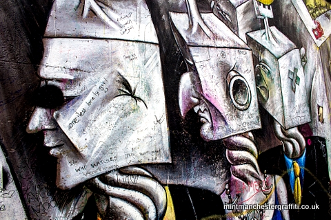 Berlin Wall Square Heads