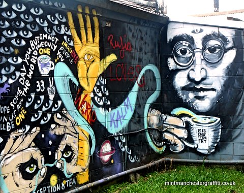 John Lennon With A Brew