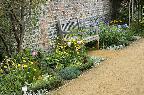 Walled Garden with Planting and Path