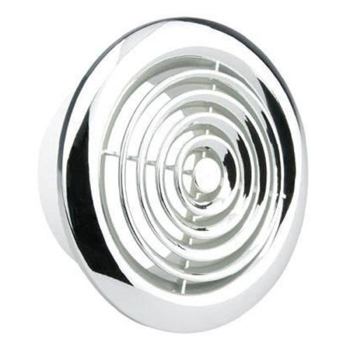 Chrome Bathroom Extractor Fan Cover : Manrose c quot chrome internal grille