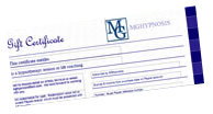 Gift vouchers from MG Hypnosis