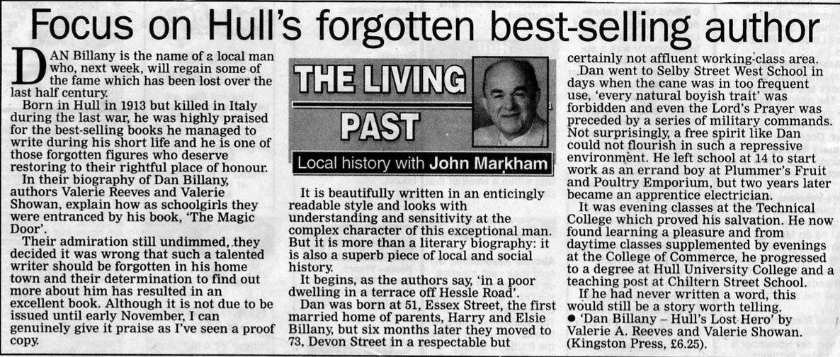 Dan Billany Hull's Lost Hero review by John Markham