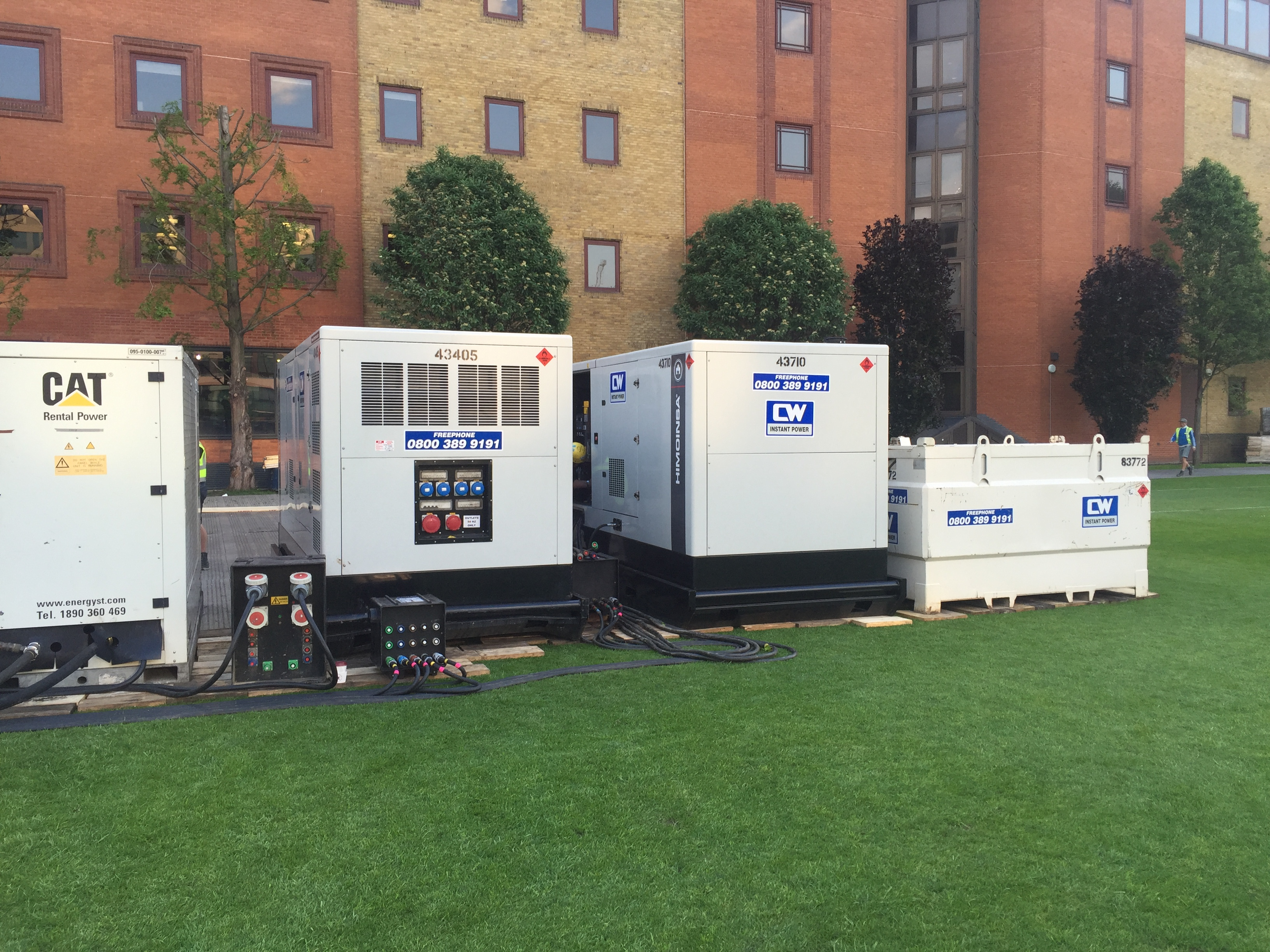 Twin 500kVA Synced Generator Installation for Event Power