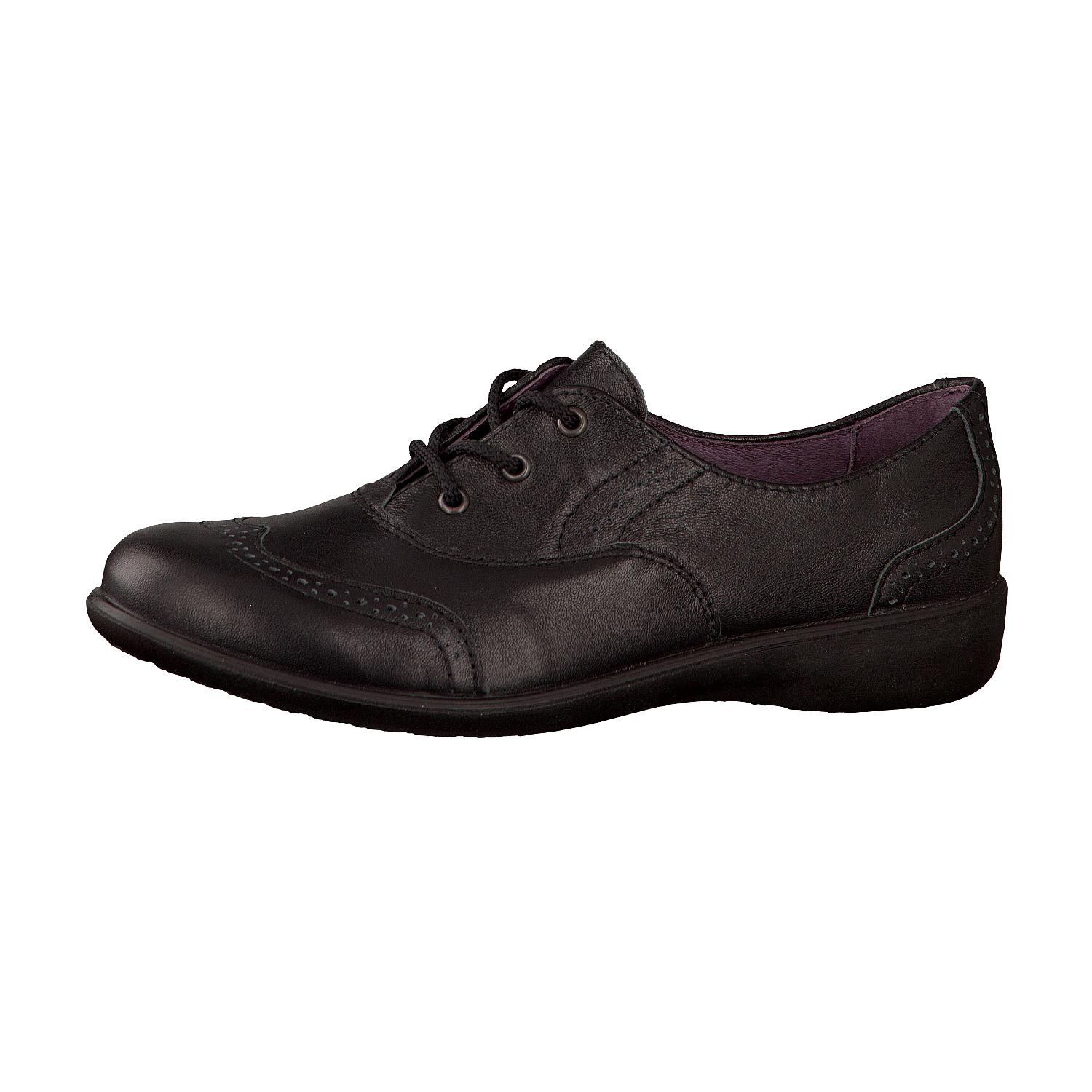 Black leather brogue  £58