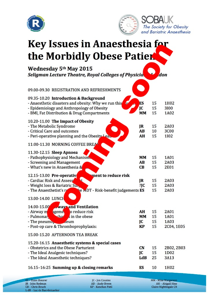 Society for Obesity and Bariatric Anaesthesia | Bariatric News