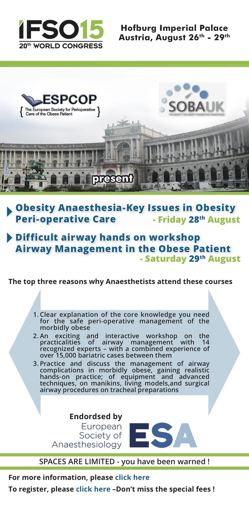 Key Issues in Obesity Anaesthesia and Scientific General Meeting ...