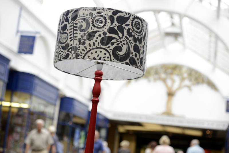 Standard Lamp in Shopping Arcade