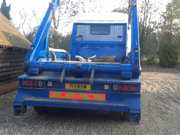 back of lorry