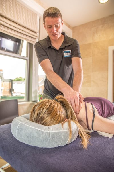 Phil Smith doing Sports Massage
