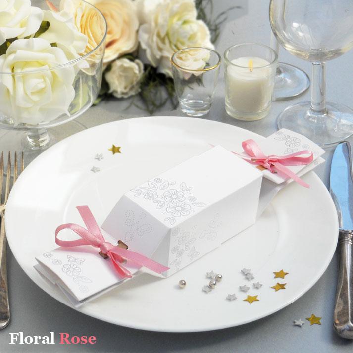 Wedding Crackers Floral Design 20 Ribbon Colours Bulk Offer