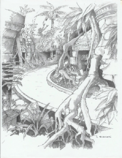 Lost City - Sketch the mysterious stream