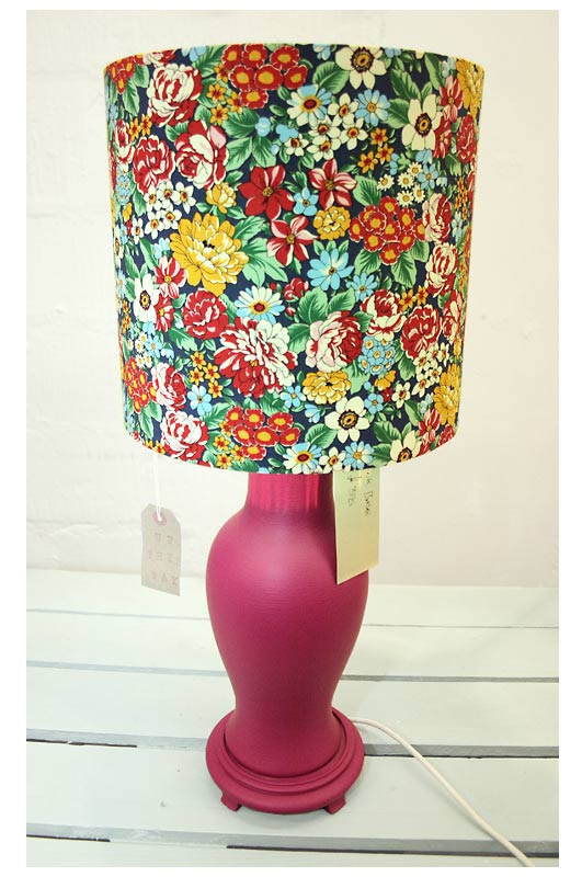 50's Floral Multicoloured Lampshade