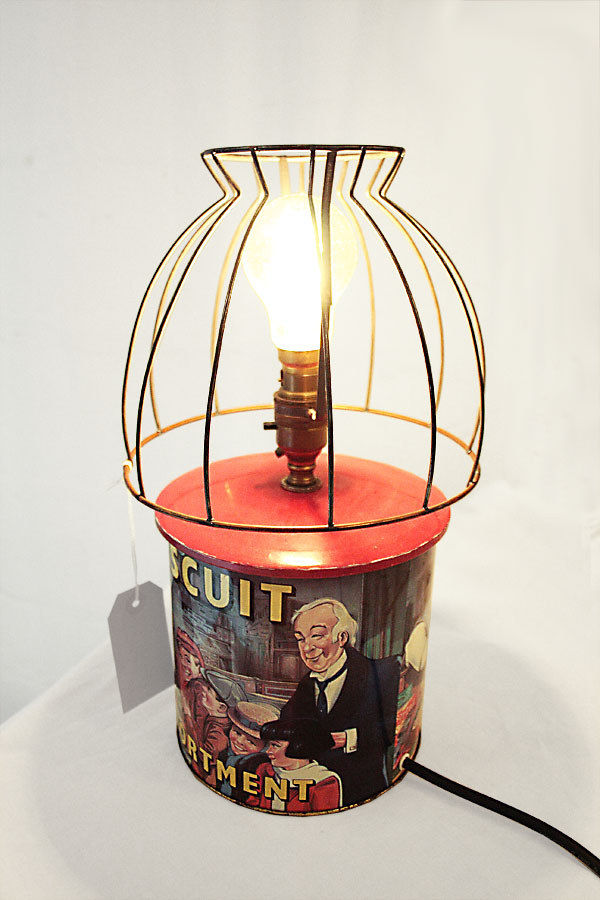 Biscuit Tin Lamp