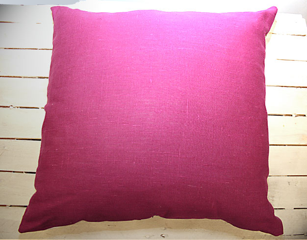 Charcoal on Fuchsia 2 Cushion