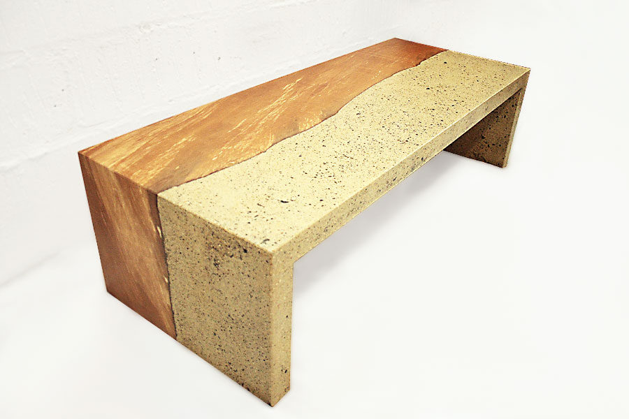 Concrete & Pear Wood Table