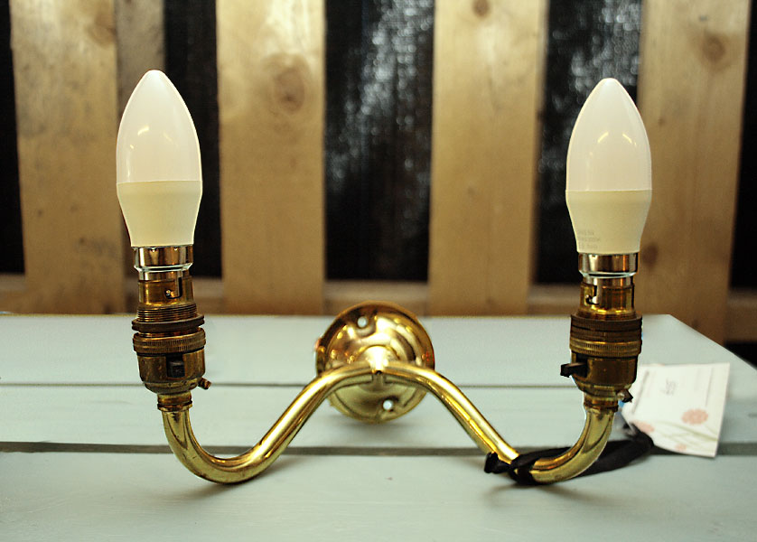 Double Brass Wall Lamp Sconce