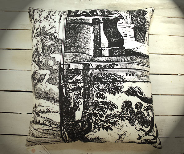 Fable Cushion in Black & White