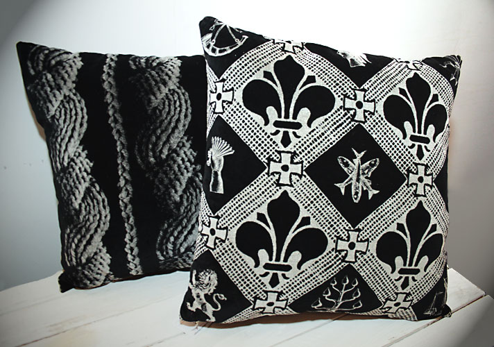 Rope in Black Velvet Cushion